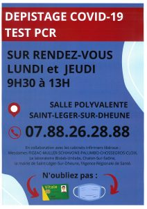 Dépistage COVID-19  TEST PCR